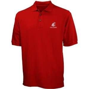 Washington State Cougars Crimson Pique Polo Sports