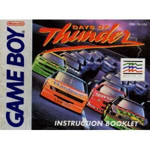 Days of Thunder GB Instruction Booklet (Game Boy Manual Only   NO GAME