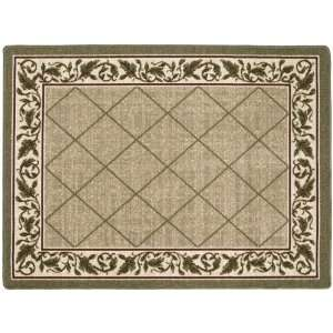 : Accents 4 by 6 Nylon Full Border Mat, Regent Sand: Home & Kitchen