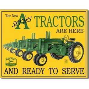 John Deere A Series Tin Sign by Desperate Enterprises: Home & Kitchen