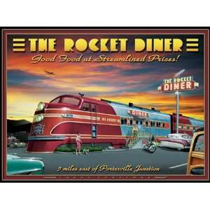 The Rocket Diner Jigsaw Puzzle 1000pc Toys & Games
