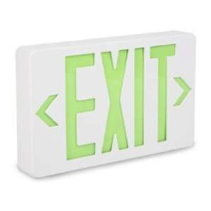 Exit Sign   Plastic with Green Letters