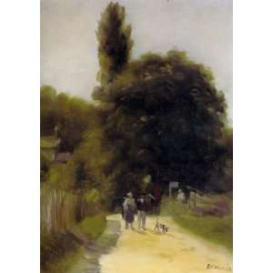 Oil Painting Two Figures in a Landscape Pierre Auguste