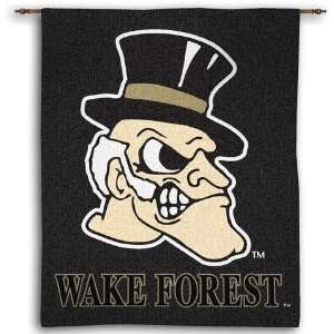 Wake Forest University Deacon Head Woven Tapestry Wall Hanging   34 x