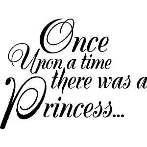 Once Upon A TimeWall Quote Words Lettering Art , MATTE