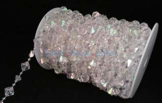 Large Gemstone Crystal Bead Strand   60ft. Roll   Event Decor Direct
