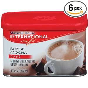 Maxwell House International Coffee Suisse Mocha Café, 7.2 Ounce Cans