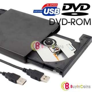 USB 2.0 External Slim DVD ROM CD ROM Drive 4 Laptop PC   BuyinCoins