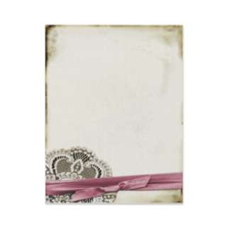 Laura Lace Pink Vintage Response Card Custom Invit by StarStock