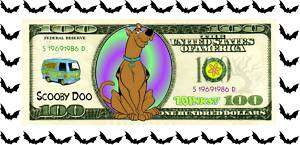 SCOOBY DOO Collectible Kids Classic Cartoon Money $100