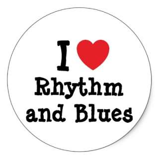 love Rhythm and Blues heart custom personalized Stickers from Zazzle