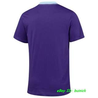 ADIDAS TREFOIL LOGO TEE SHIRT Purple Blue superstar new S