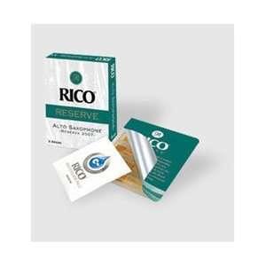 Rico Reserve Classic Alto Sax Reeds, Strength 2.0, 5 pack