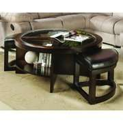 Woodbridge Home Designs 3219 Series Round Cocktail Table with Two