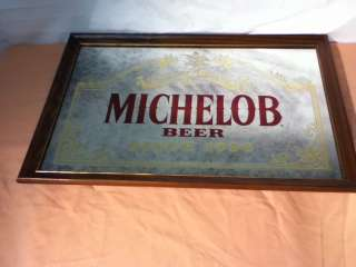 M1 MICHELOB BEER SIGN MIRROR BAR ADVERTISING VINTAGE ANHEUSER BUSCH