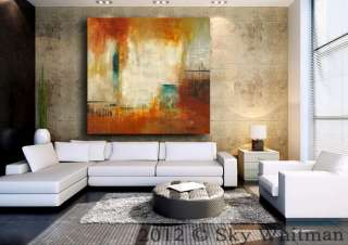 ORIGINAL ABSTRACT ART LARGE CONTEMPORARY MODERN OIL PAINTING HUGE FREE