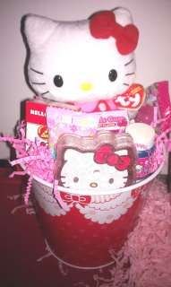 Hello Kitty Gift Basket 4 Easter Birthday   Candy Plush