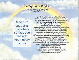 DOG CAT Pet loss memorial poem print RAINBOW BRIDGE