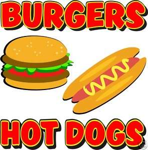 Hot Dogs Burgers Restaurant Concession Food Decal 18