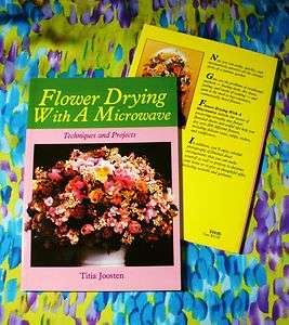 Flower Drying with a Microwave Book or Simulated Silk & Voile Roses