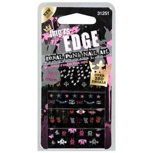 Fingrs Edge Decals 4 Sheets 31251 Royal Punk Nail Art, 1 ct Makeup