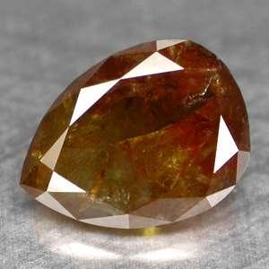 70cts~PEAR FANCY BI COLOR NATURAL LOOSE DIAMOND