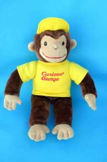 Gund Curious George Yellow Hat Shirt Plush Monkey Stuffed Animal 16