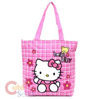 Sanrio Hello Kitty School Tote Bag Diaper Bag Pink Teddy Bear 1