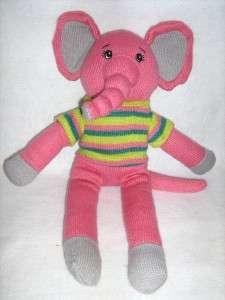 DAN DEE COLLECTORS   KNIT PLUSH ELEPHANT   18