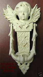 Cast Iron Metal Angel Cherub Door Knocker Old Looking