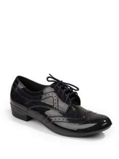 Melissa   Joy A Herch Lace Up Flat Shoes/Black