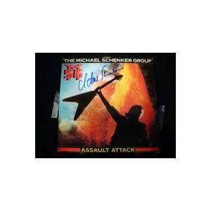 Signed Schenker, Michael Assault Attack Album Cover