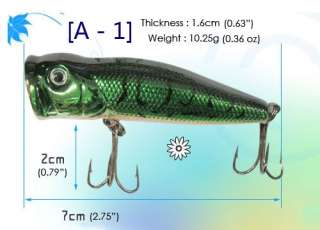 10 pcs Korea Brand High quality Fishing Lures Baits   Minnow, Popper