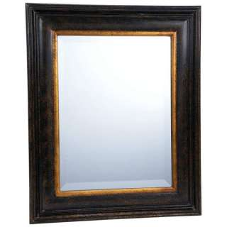 Dark Brown Framed Beveled Mirror HHMIRDB