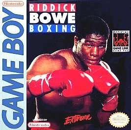 Riddick Bowe Boxing Nintendo Game Boy, 1994 027479500015