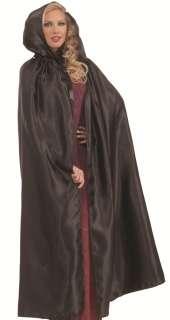 Gothic Vampire Long Black Halloween Costume Cape Cloak 721773676703