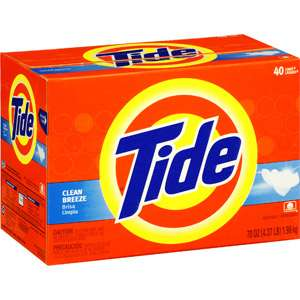 Tide Powder Laundry Detergent, Clean Breeze, 70 oz