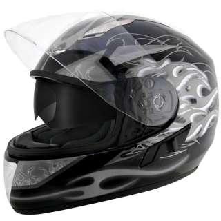 Advanced Dual Visor Flamma Grey Motorcycle Helmet L