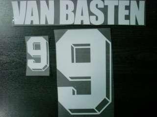 VAN BASTEN #9 Holland Home EURO 1992 VELVET Name Number