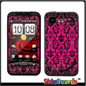 PINK VI Decal Skin To Cover HTC DROID Incredible 2 Case