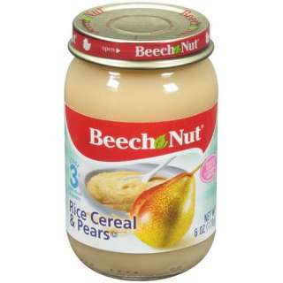 Beech Nut Rice Cereal & Pears Stage 3 Baby Food, 6 Oz