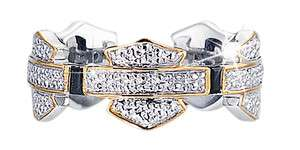 Harley Davidson Ladies Silver Eternity Ring   NEW