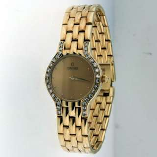 Concord 14k Yellow Gold Diamond Ladies Watch.