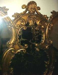 Large Beautiful Wall Mirror Wood & Gilt/Gesso