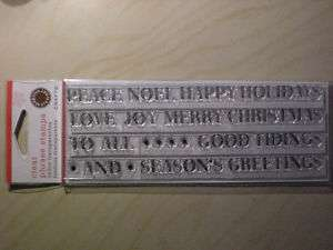 Martha Stewart Clear Christmas Phrase Rubber Stamps
