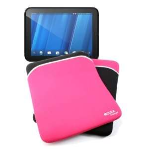 & Pink Reversible Neoprene Zip Sleeve Compatible With HP Touchpad