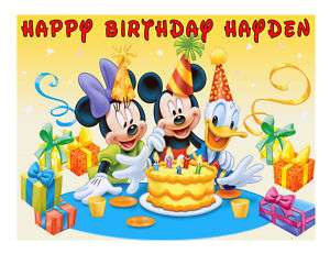 Mickey Mouse Birthday edible cake image frosting sheet