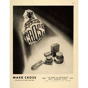 1945 Ad Mark Cross Men Gloves Leather Goods Accessories   Original