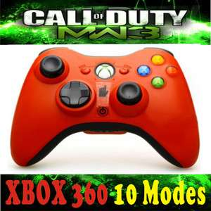 New Wireless Modded Xbox360 Rapid Fire Controller 10 Mode hot RED COD8