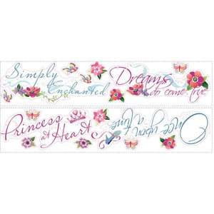 Princess Quotes Peel and Stick Wall Decal Us Only Kids & Teen Rooms